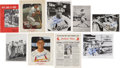 Baseball Collectibles:Others, Stan Musial Signed Memorabilia and Original Photographs Lot of9....