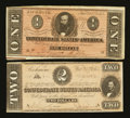 Confederate Notes:1864 Issues, T70 $2 1864.. ... (Total: 2 notes)
