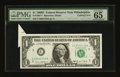 Error Notes:Attached Tabs, Fr. 1907-C $1 1969D Federal Reserve Note. PMG Gem Uncirculated 65EPQ.. ...