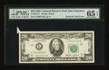 Error Notes:Attached Tabs, Fr. 2075-L $20 1985 Federal Reserve Note. PMG Gem Uncirculated 65EPQ.. ...