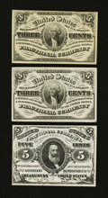 Fractional Currency:Third Issue, Third Issue Low-Denomination Trio.. ... (Total: 3 notes)