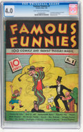 Platinum Age (1897-1937):Miscellaneous, Famous Funnies #1 (Eastern Color, 1934) CGC VG 4.0 Light tan to off-white pages....