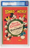 Golden Age (1938-1955):Cartoon Character, Donald and Mickey Merry Christmas #1946 (K. K. Publications, 1946) CGC VF+ 8.5 Cream to off-white pages....