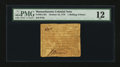 Colonial Notes:Massachusetts, Massachusetts October 16, 1778 1s/6d PMG Fine 12....