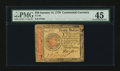 Colonial Notes:Continental Congress Issues, Continental Currency January 14, 1779 $20 PMG Choice Extremely Fine45....