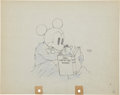 Animation Art:Production Drawing, Mickey Mouse Mickey Plays Papa Animation Production DrawingOriginal Art (Disney, 1934)....