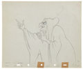 Animation Art:Production Drawing, Snow White Evil Witch Animation Production Drawing OriginalArt (Disney, 1937)....