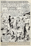 Original Comic Art:Splash Pages, Jack Kirby and Joe Sinnott Fantastic Four #90 Splash Page 1 Original Art (Marvel, 1969)....