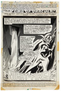Original Comic Art:Splash Pages, Gene Colan and Tom Palmer Tomb of Dracula #27 Splash Page 1Original Art (Marvel, 1974)....
