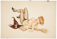 ALBERTO VARGAS (American, 1896-1982) Vargas Girl, Playboy illustration, October 1963 Watercolor on board 20 x 29 in