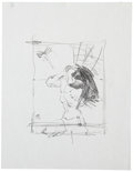 Original Comic Art:Miscellaneous, Jeff Jones Tarzan Howl Preliminary Drawing Original Art(undated)....