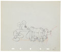 Animation Art:Production Drawing, Mickey Mouse Society Dog Show Animation Production DrawingOriginal Art (Disney, 1939)....