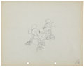 Animation Art:Production Drawing, Mickey Mouse Puppy Love Animation Production Drawing Original Art (Disney, 1933).... (Total: 2 )