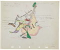 Animation Art:Production Drawing, Woodland Cafe Animation Color Model Sheet Original Art(Disney, 1937)....
