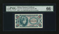Military Payment Certificates:Series 651, Series 651 25¢ PMG Gem Uncirculated 66 EPQ....