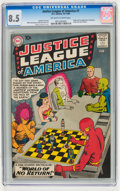 Silver Age (1956-1969):Superhero, Justice League of America #1 (DC, 1960) CGC VF+ 8.5 Off-white towhite pages....