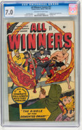 Golden Age (1938-1955):Superhero, All Winners Comics #21 (Timely, 1947) CGC FN/VF 7.0 Off-white to white pages....