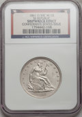 Seated Half Dollars, 1861-O 50C Ship Wreck Effect NGC. SS Republic, Confederate StatesIssue, W-13. With wooden case and certificate of authenti...