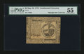Colonial Notes:Continental Congress Issues, Continental Currency May 10, 1775 $2 PMG About Uncirculated 55....