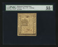 Colonial Notes:Delaware, Delaware May 1, 1777 5s PMG About Uncirculated 55 EPQ....