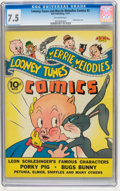 Golden Age (1938-1955):Cartoon Character, Looney Tunes and Merrie Melodies Comics #2 (Dell, 1941) CGC VF- 7.5Off-white pages....