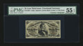 Fractional Currency:Third Issue, Gilfillan Courtesy Autograph Fr. 1295 25¢ Third Issue PMG About Uncirculated 55 EPQ....