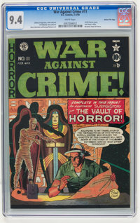 War Against Crime #11 Gaines File pedigree 10/11 (EC, 1950) CGC NM 9.4 White pages