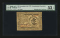 Colonial Notes:Continental Congress Issues, Continental Currency November 29, 1775 $3 PMG About Uncirculated 53EPQ....
