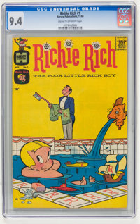 Richie Rich #1 (Harvey, 1960) CGC NM 9.4 Cream to off-white pages