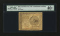 Colonial Notes:Continental Congress Issues, Continental Currency September 26, 1778 $60 PMG Extremely Fine 40Net....