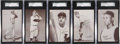 Baseball Cards:Sets, 1962 & 1963 Exhibit Stat Back Collection (26) With Partial Set....