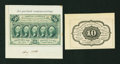 Fractional Currency:First Issue, Two First Issue Specimens.. ... (Total: 2 notes)
