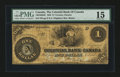 Canadian Currency: , Toronto, ON- Colonial Bank of Canada $1 May 8, 1859 Ch.130-10-02-02. ...