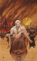 Original Comic Art:Miscellaneous, Michael Whelan Three-Eyes Paperback Cover PreliminaryOriginal Art (c. 1975)....