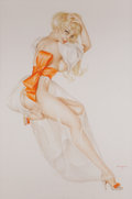 Original Comic Art, ALBERTO VARGAS (American, 1896-1982). Vargas Girl, Playboy illustration, page 159, December 1969. Watercolor on board. 2...
