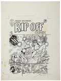 Original Comic Art:Covers, Gilbert Shelton and others Rip Off Comix #1 Cover OriginalArt (Rip Off Press, 1977)....