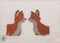 Animation Art:Production Cel, The Fox and the Hound Animation Production Cel Original Art,Signed by Thomas and Johnston (Disney, 1980)....
