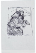Original Comic Art:Miscellaneous, Jeff Jones Preliminary Ink Drawing Study for a Painting OriginalArt (undated)....