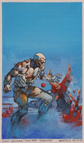 Original Comic Art:Miscellaneous, Boris Vallejo Doc Savage #83: The Red Terrors PaperbackCover Preliminary Original Art (Bantam, c. 1976)....
