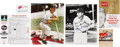 Baseball Collectibles:Others, Stan Musial and Lou Brock Signed Lot....