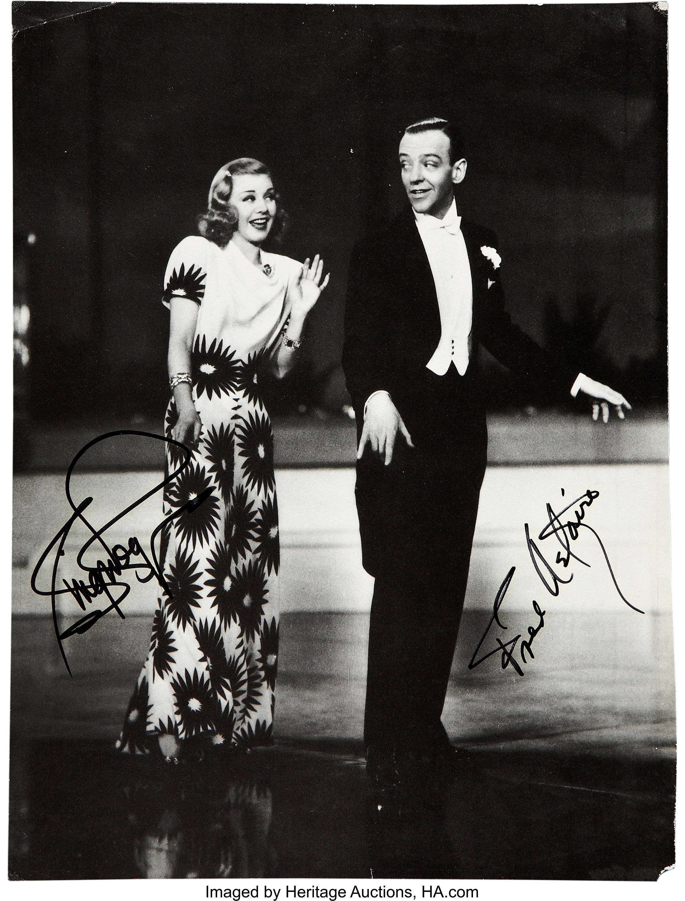 Fred Astaire And Ginger Rogers Signed Photo Movie Tv Lot 51086 Heritage Auctions