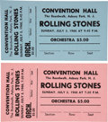 Music Memorabilia:Tickets, Rolling Stones Unused Ticket Group (1966).. ... (Total: 2 Items)