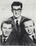 Music Memorabilia:Autographs and Signed Items, Buddy Holly and the Crickets Band-Signed British Tour Book....