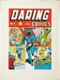 Original Comic Art:Covers, C. C. Beck Daring Mystery Comics #7 Cover RecreationOriginal Art (1977)....