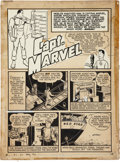 Original Comic Art:Panel Pages, C. C. Beck Whiz Comics #7 Captain Marvel page 1 Original Art (Fawcett, 1940)....