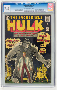 The Incredible Hulk #1 (Marvel, 1962) CGC VF- 7.5 Off-white to white pages