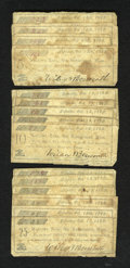 Obsoletes By State:Massachusetts, Barrington, MA- Wilcox & Bosworth 5¢ (4); 10¢ (5); 25¢ (6) Oct.13, 1862. ... (Total: 15 notes)
