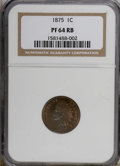 Proof Indian Cents: , 1875 1C PR64 Red and Brown NGC. NGC Census: (46/47). PCGS Population (81/27). Mintage: 700. Numismedia Wsl. Price for NGC/P...