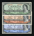 Canadian Currency: , Three Canadian Notes.. ... (Total: 3 notes)