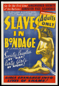 """Movie Posters:Crime, Slaves in Bondage (Roadshow Attractions, 1937). One Sheet (27"""" X41""""). Crime. Starring Lona Andre, Donald Reed, Wheeler Oakm..."""